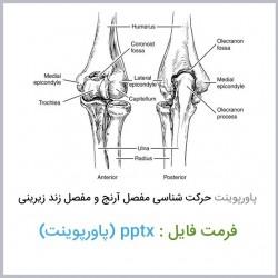 دانلود فایل پاورپوینت حرکت شناسی مفصل آرنج و مفصل زند زیرینی