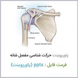 دانلود فایل پاورپوینت حرکت شناسی ساختاری مفصل شانه