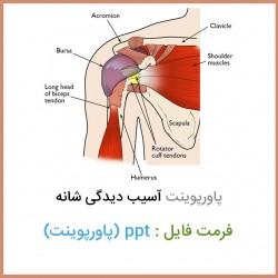 فایل پاورپوینت آسیب دیدگی شانه Shoulder injuries